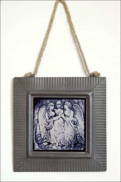 three angels 4 x 4 inch print on metal