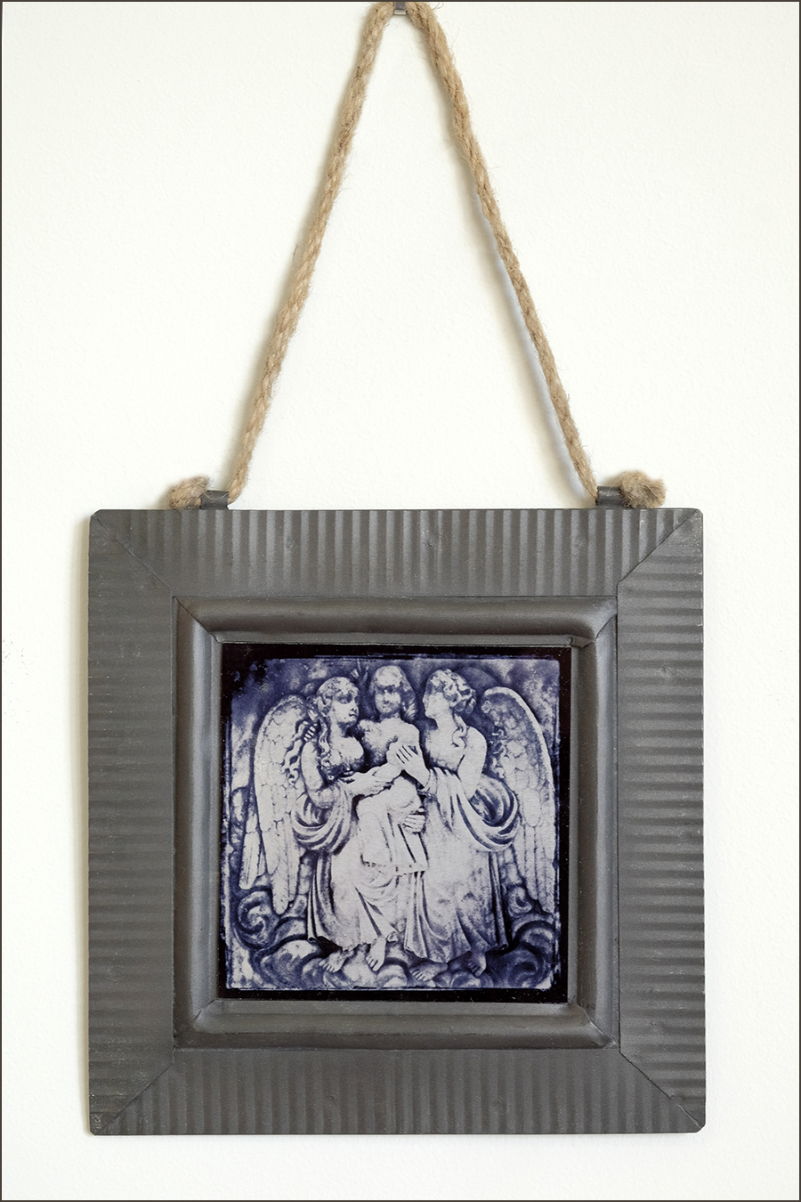 three angels 4 x 4 inch print on metal