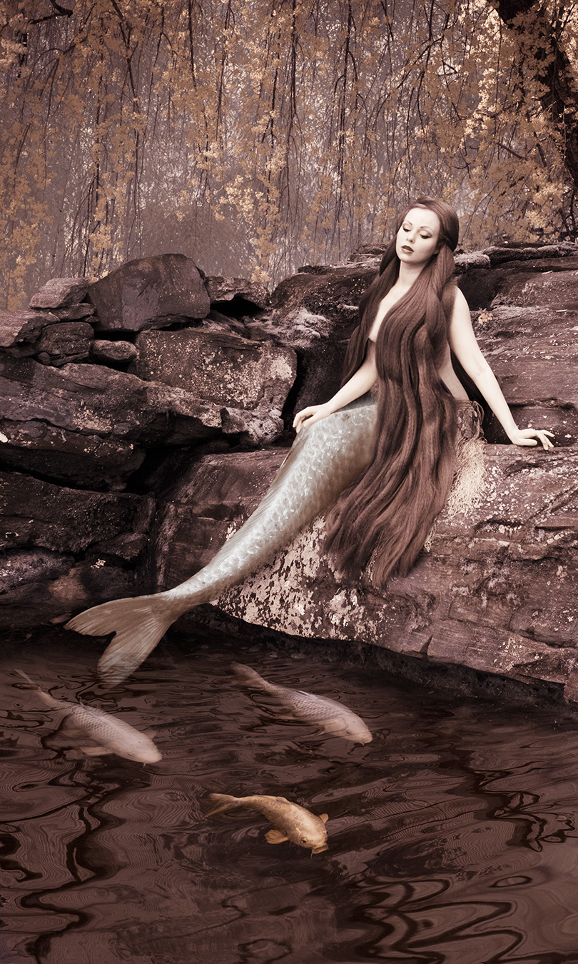 The Mermaid fine art print on exterior ceramic tile