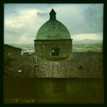 Cortona Center of Photography Church Dome in Moody storm light by Robin Davis